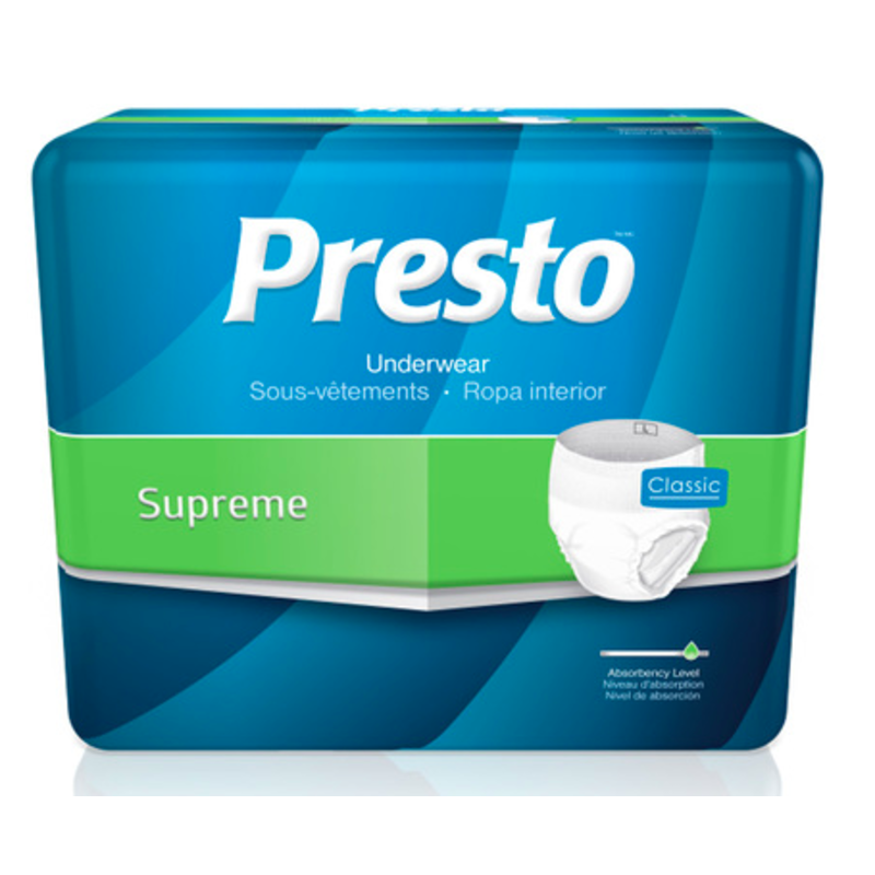 Presto Classic Supreme Underwear - Medium 20 Count