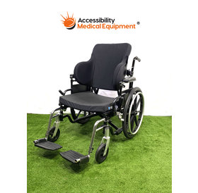 Refurbished Quickie Breezy Foldable Wheelchair with Solid Back