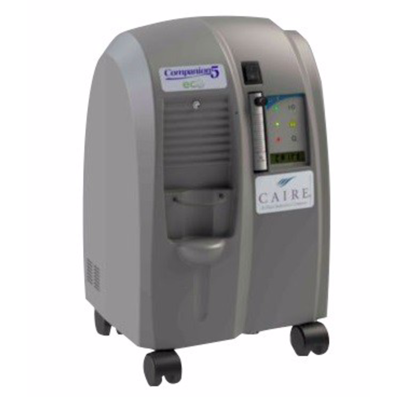 As Is Caire Companion 5 Home Oxygen Concentrator System