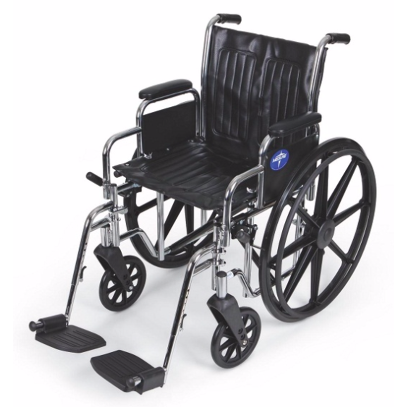 MedLine Excel 2000 Manual Wheelchair with Swing Away Leg Rests