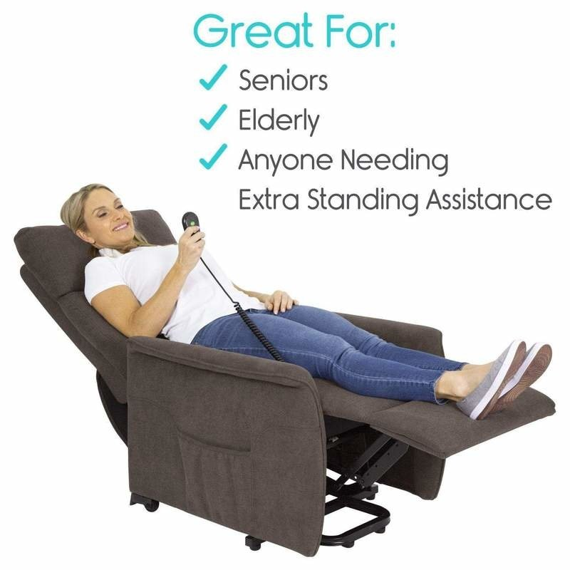 Vive Health Large Lift Chair With Massage, Sit to Stand Recliner