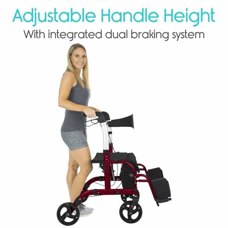 Vive Health Vive Hybrid Wheelchair Rollator Combo