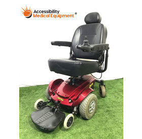 "Refurbished Maroon Jazzy Select Power Chair with 18"" Seat: Needs Batteries"