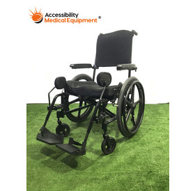 """Refurbished Ki Mobility Catalyst Adjustable Back 20"""" Folding Manual Wheelchair with Swing Away Leg Rests"""