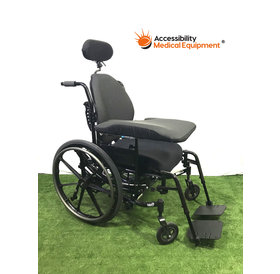 """Refurbished Invacare Solara 3G Tilt in Space 20"""" Wheelchair with padded attachments"""