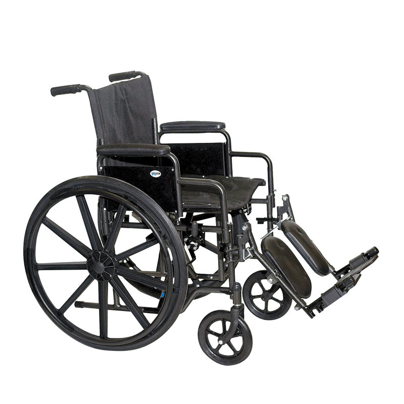 Refurbished Manual Wheelchair with Elevating Legrests