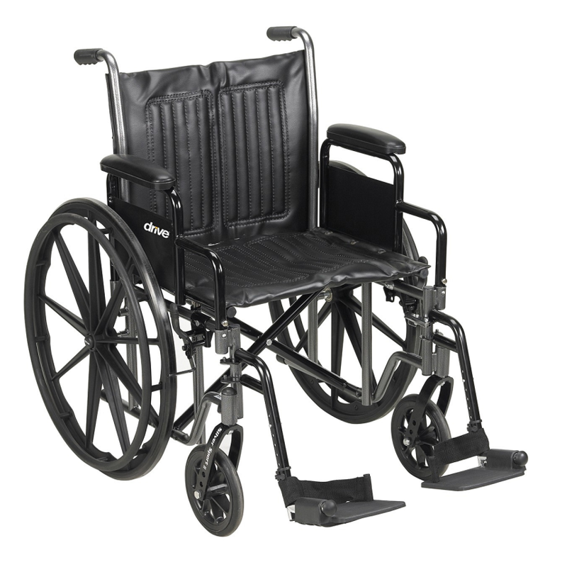 Refurbished Manual Wheelchair with Swing Away Leg Rests