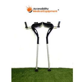 Refurbished MD Crutch Pair - Black