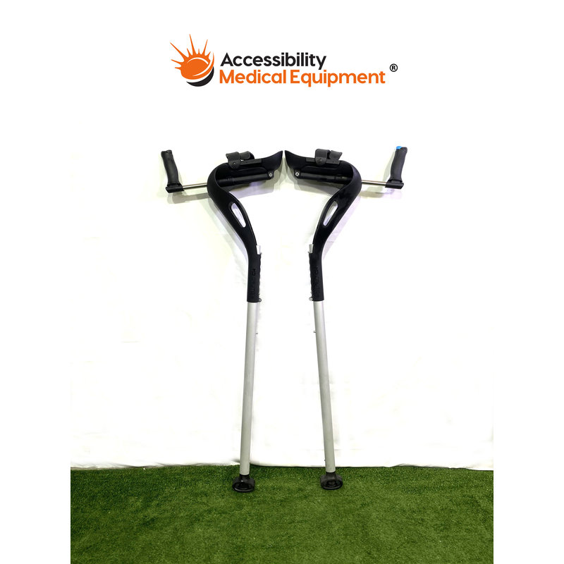 Refurbished MD Crutch Pair - Black