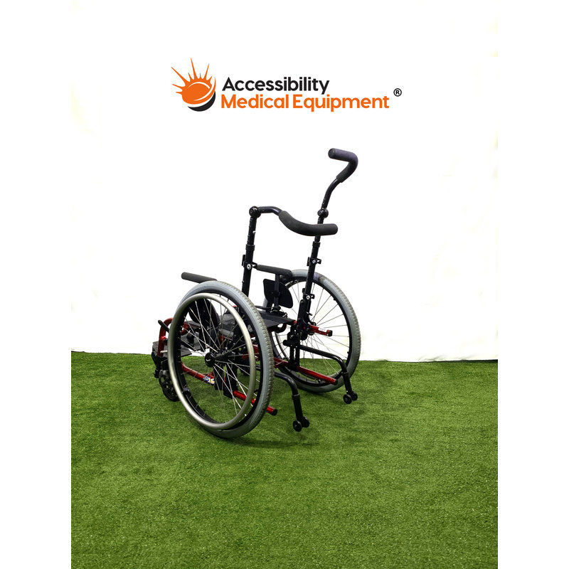 Refurbished Pediatric Zippie X'Cape Folding Manual Wheelchair with Swing away Leg Rests