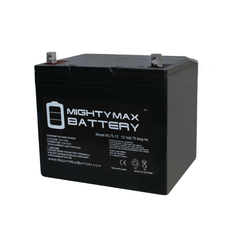 MightyMax Mighty Max Group 24 75 Ah Power Wheelchair Battery
