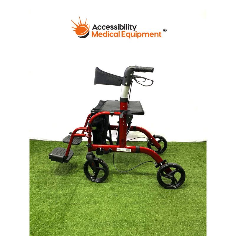 Refurbished Euro Style Transport Wheelchair Rollator Combination