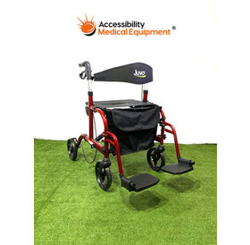 Refurbished Euro Style Transport Wheelchair Rollator Combination
