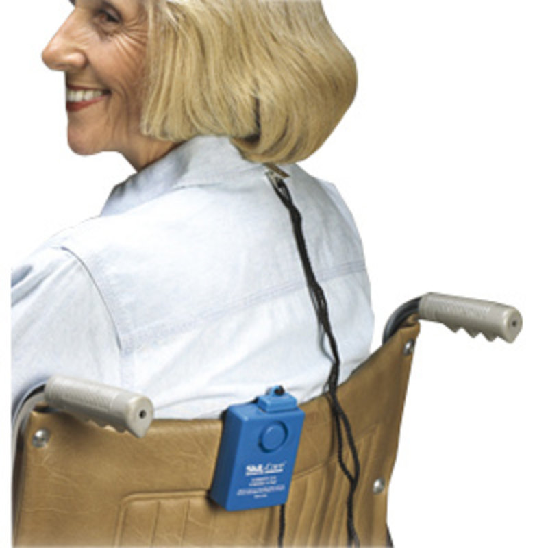 Skil-Care Skil-Care Wheel Chair Economy Alarm with Spring-Loaded Clip Blue, Multi-Directional Magnetic Pull-Switch