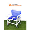 Refurbished Bariatric PVC Rolling Shower Chair with Commode Opening