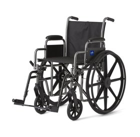 """Medline Medline 18"""" K1 Wheelchair with Desk-Length Arms and Swing-Away Footrests, 300 lb. Weight Capacity"""