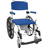 "Drive Medical Drive Medical Rehab Shower Commode Mobile Chair Aluminum, 24"" Rear Wheels"