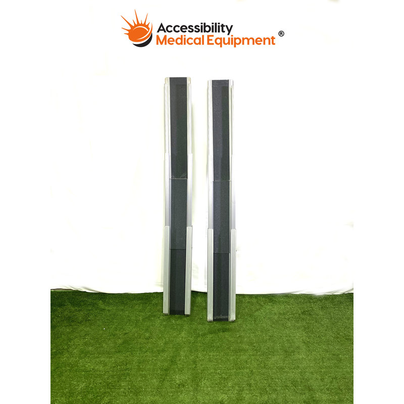 """Refurbished Telescoping 5' (58"""") Portable Wheelchair Track Ramps"""