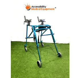 Refurbished Drive Nimba Pediatric Reverse Walker with Platform Attachment Size Large