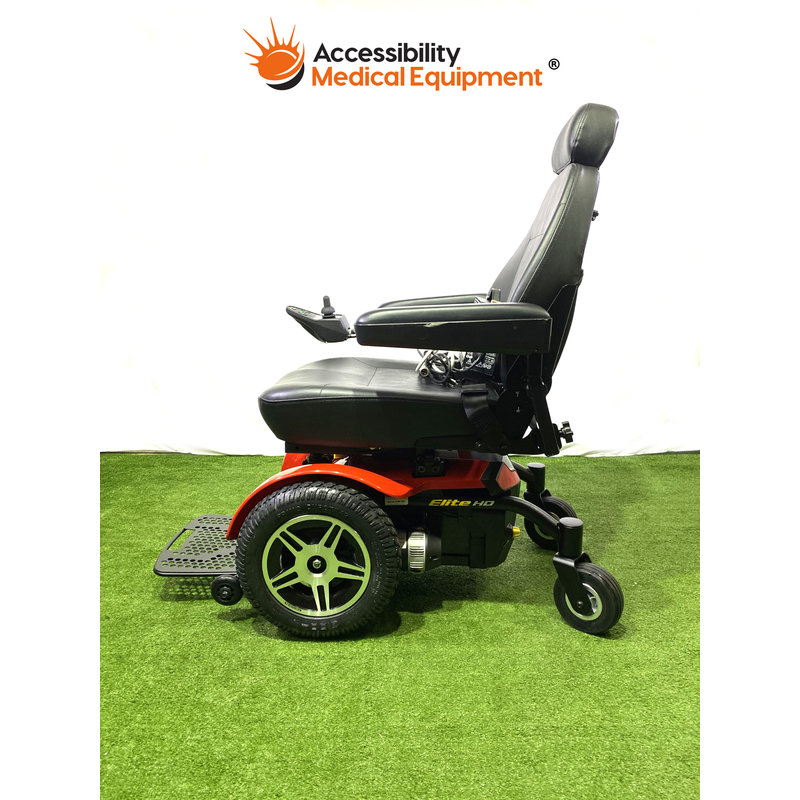"""Refurbished Jazzy Elite HD Bariatric 22"""" Power Wheelchair with Batteries"""