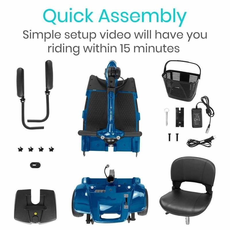 Vive Health Vive  3 Wheel Mobility Scooter (Limited Warranty)