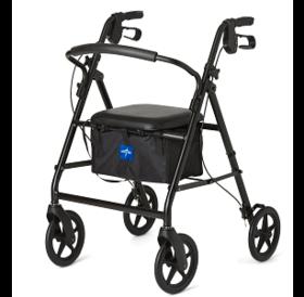 "Medline Medline Rollator with 8"" Wheels, Black"