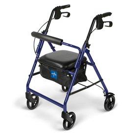 "Medline Medline Rollator with 6"" Wheels, Blue"