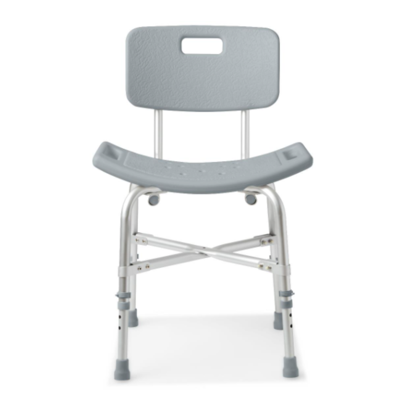 Medline Medline Shower Chair with Backrest and Reinforced Frame, Bariatric, 550 lb. Capacity
