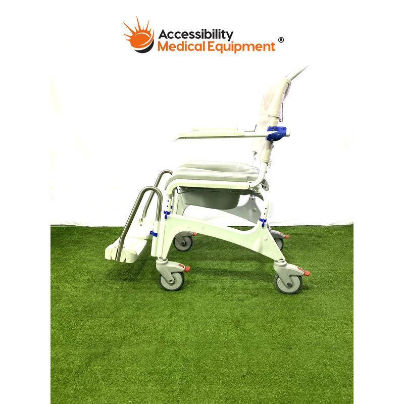 "Refurbished Aquatec Ocean Ergo VIP Shower Commode Chair - 18"" Seat"