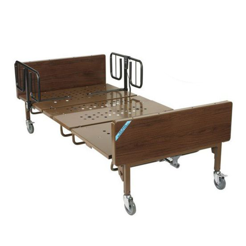 """Drive Medical Drive Full Electric Bariatric Hospital Bed Package With Mattress, T-Rails, 42"""""""