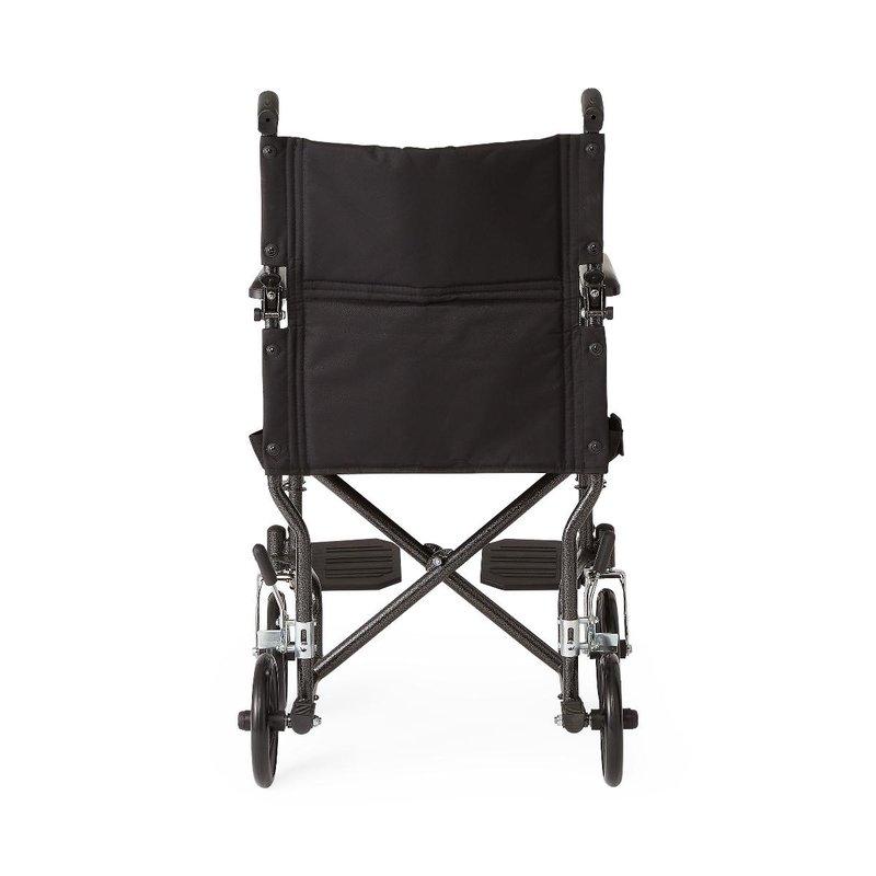 Medline Medline Steel Transport Chair, Black