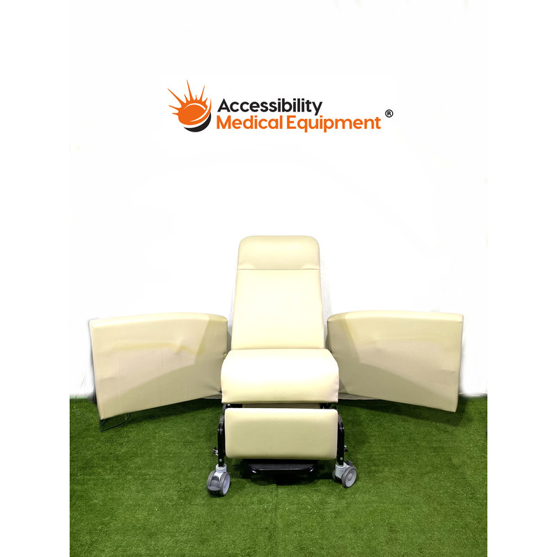 As-Is Geri Chair Recliner w/ Swingaway Arms and Side table