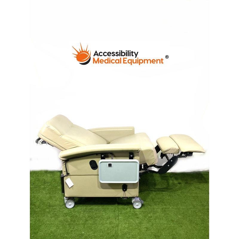 As-Is Geri Chair Recliner w/ Swingaway Arms, Heat & Dual Side table