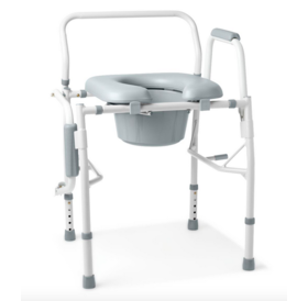 Medline Drop Arm Commode with Padded Seat