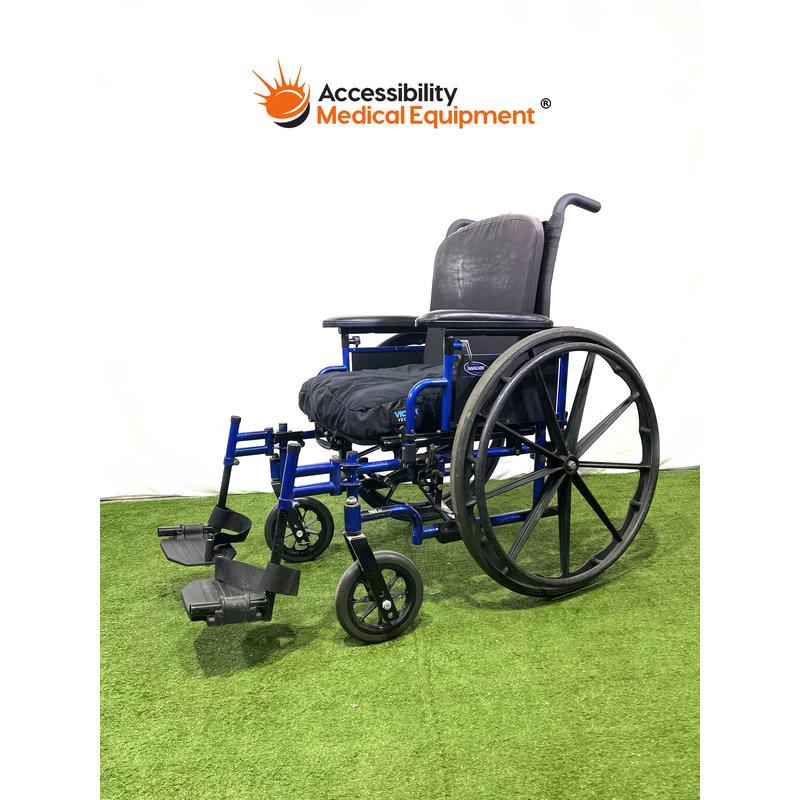 "Refurbished Invacare 9000xt folding wheelchair - 18"" seat"