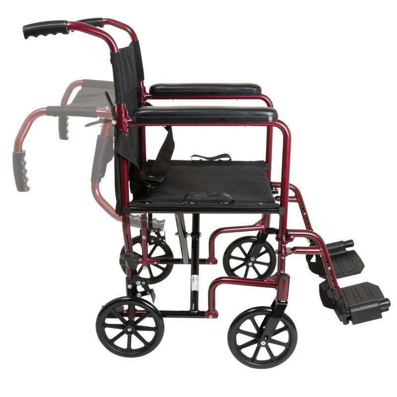 ProBasics ProBasics Aluminum Transport Wheelchair - 19""