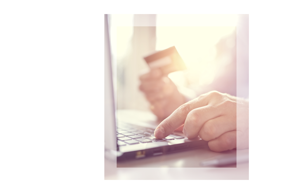 Person Making Purchase Online