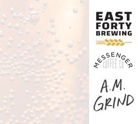 East Forty Brewing & Messenger Coffee Co. Logos