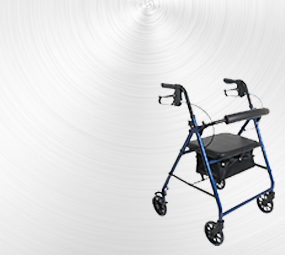 Rollator or walker with seat