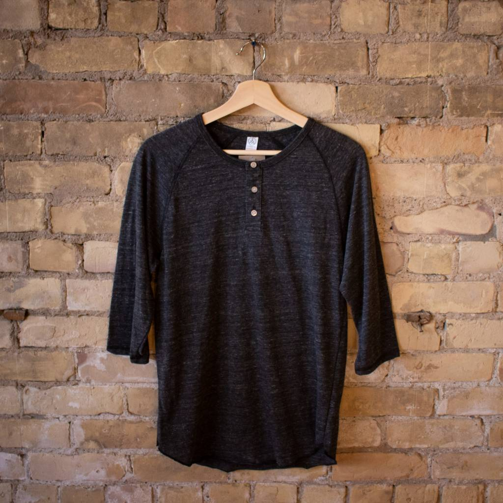Alternative Apparel Eco Jersey 3/4 Sleeve Raglan