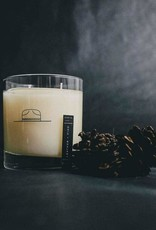 Ranger Station Leather + Pine Rocks Glass Candle