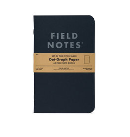 Field Notes Pitch Black Dot 2-Pack