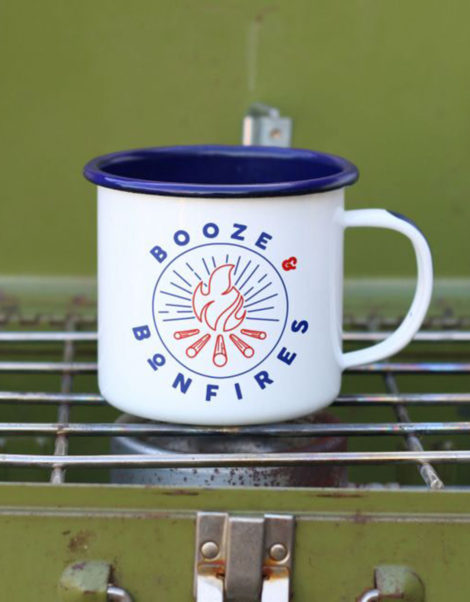 Enamel Co Booze & Bonfires 12 oz Enamel Mug