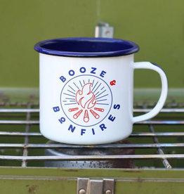 Enamel Co Booze & Bonfires 12 oz Enamel Mug