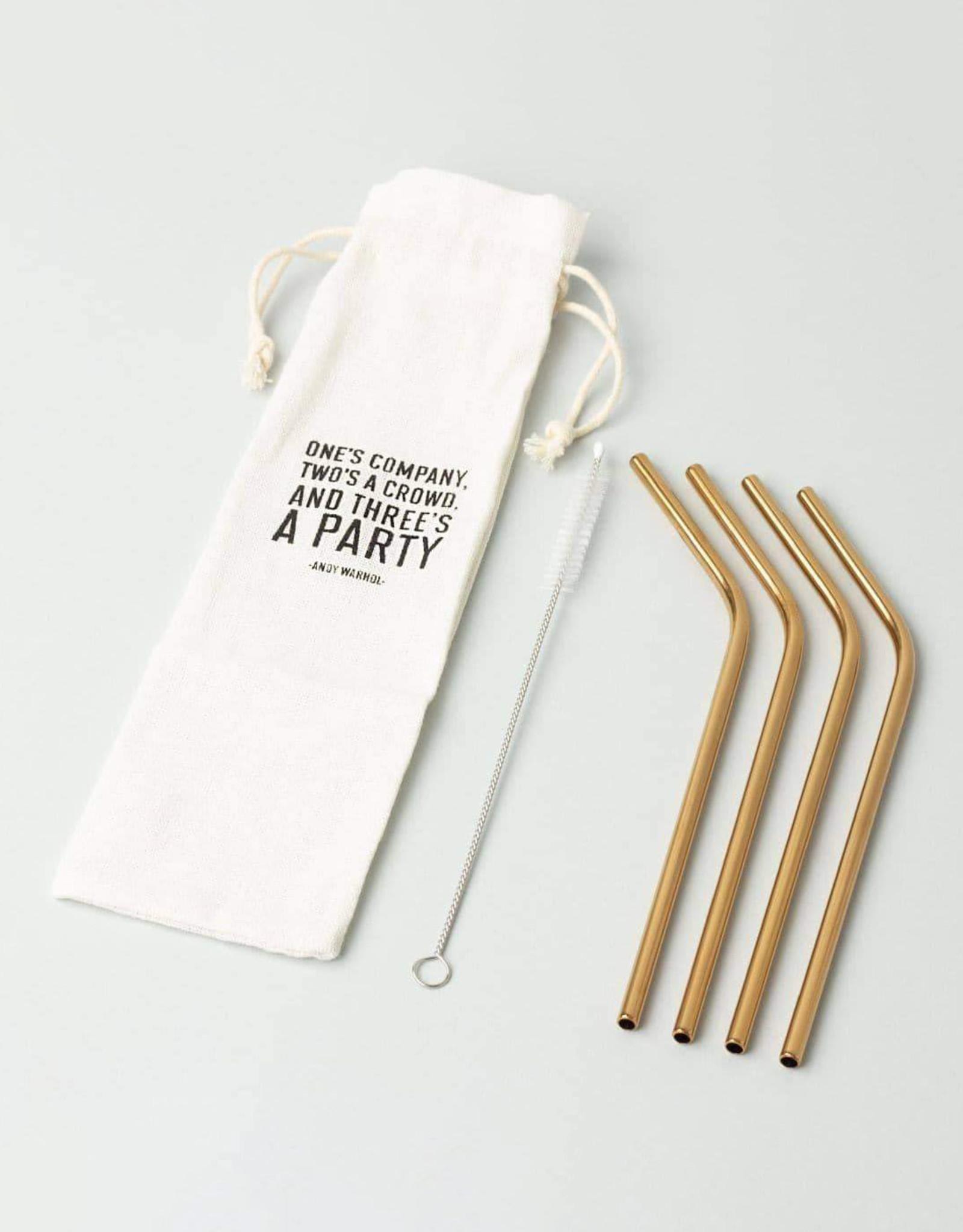 Izola Copper Plated Straws