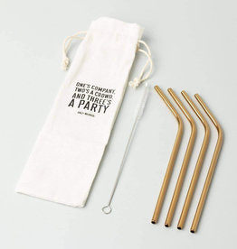 Izola Copper Plated Straws
