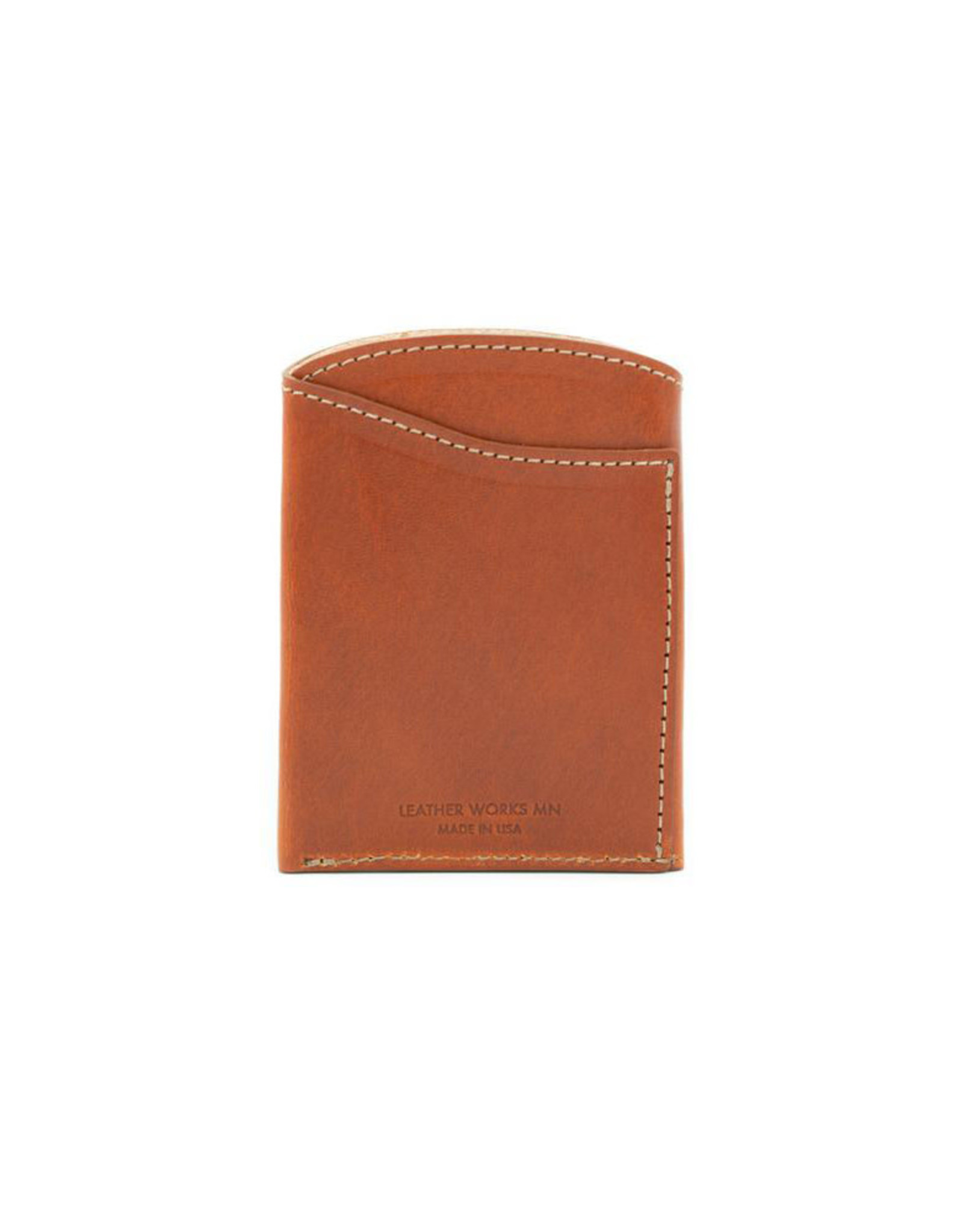 Leather Works Minnesota Font Pocket Flap Wallet