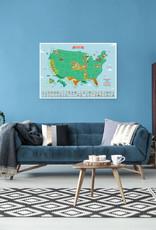 Luckies of London Scratch Map USA Landmarks