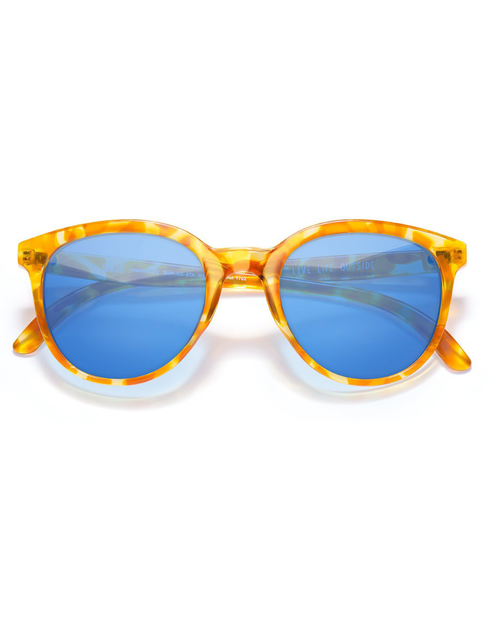 Sunski Makani Sunglasses Tortoise Aqua