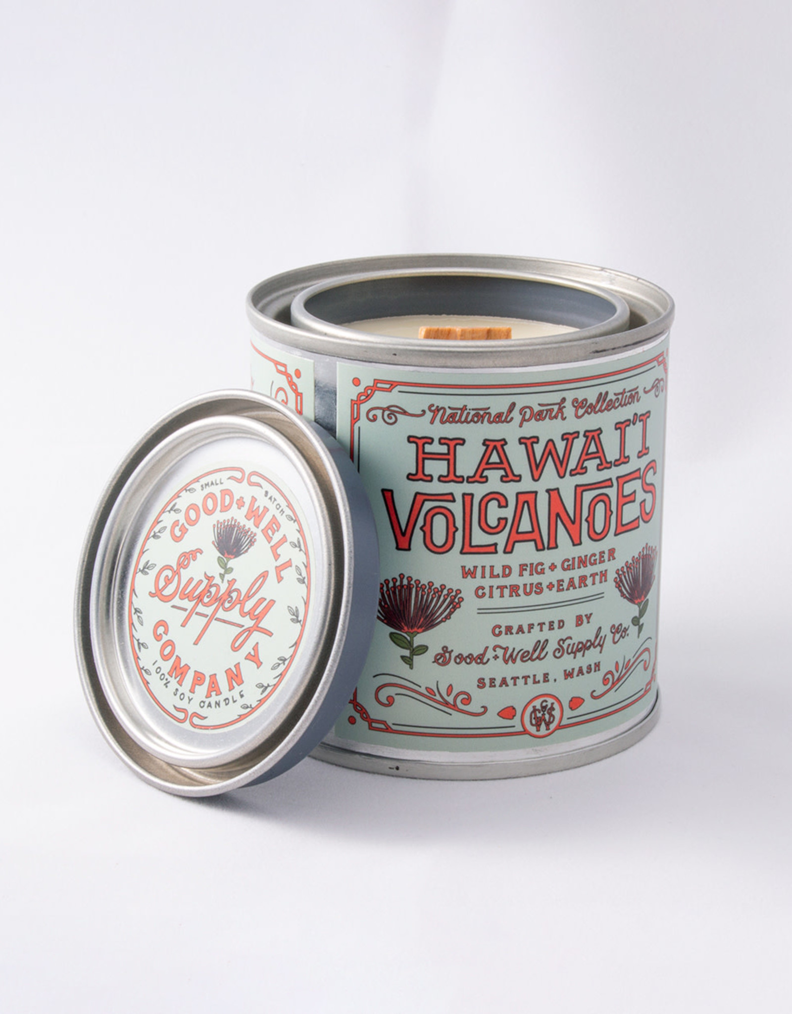 Good and Well Supply Company National Park Candle - Hawaii Volcanoes